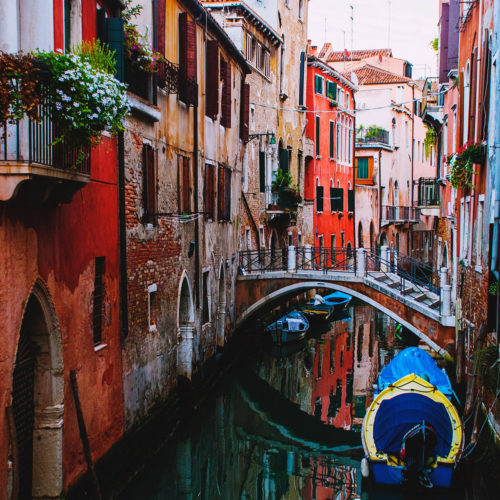 Red Venice Canal